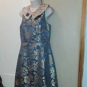 Gorgeous Removeable Collar Holiday Party Dress 8